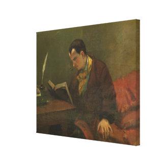 Portrait of Charles Baudelaire  1847 Canvas Prints
