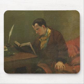 Portrait of Charles Baudelaire  1847 Mouse Mat
