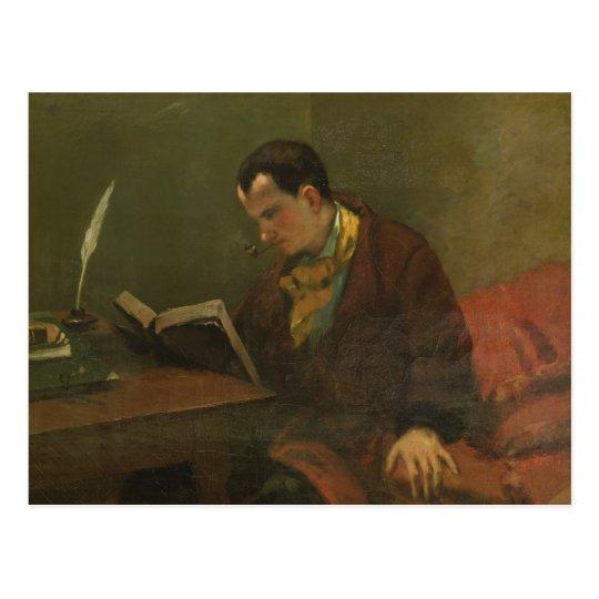 Portrait of Charles Baudelaire 1847 Postcard