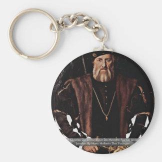 Portrait Of Charles De Solier Sieur De Morette Basic Round Button Key Ring