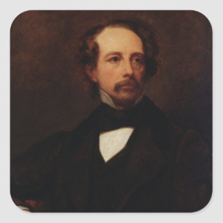 Portrait of Charles Dickens  1855 Square Sticker