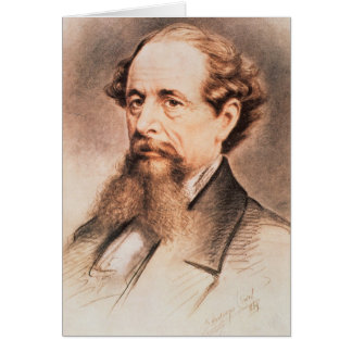 Portrait of Charles Dickens, 1869 Greeting Card