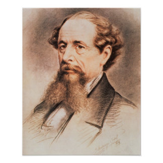 Portrait of Charles Dickens, 1869 Poster