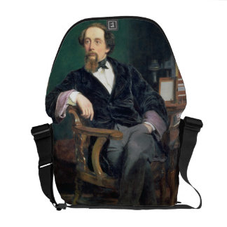 Portrait of Charles Dickens (oil on canvas) Commuter Bag