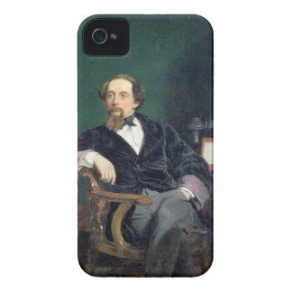 Portrait of Charles Dickens (oil on canvas) iPhone 4 Case-Mate Case