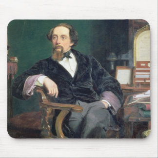 Portrait of Charles Dickens (oil on canvas) Mouse Mat