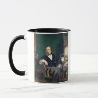 Portrait of Charles Dickens (oil on canvas) Mug