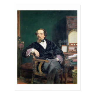 Portrait of Charles Dickens (oil on canvas) Postcard