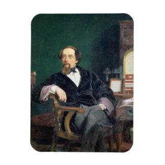 Portrait of Charles Dickens (oil on canvas) Rectangular Photo Magnet