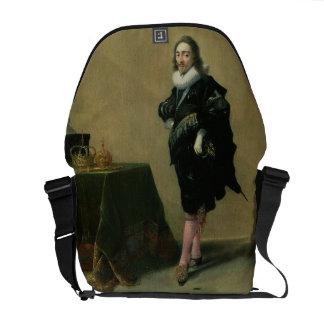 Portrait of Charles I (1600-49) 1632 (oil on panel Commuter Bag