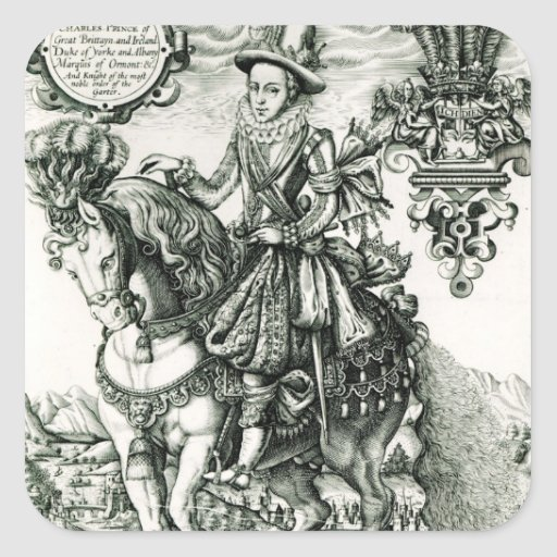 Portrait of Charles I as a Prince Square Sticker