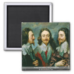 Portrait Of Charles I, King Of England Refrigerator Magnets