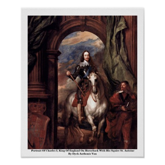 Portrait Of Charles I, King Of England Poster