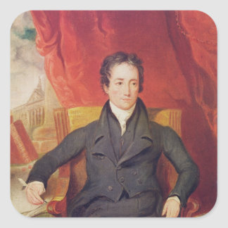 Portrait of Charles Lamb  1826 Square Sticker