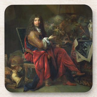 Portrait of Charles Le Brun (1619-90) 1686 (oil on Coaster
