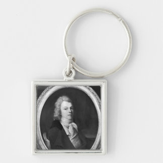Portrait of Charles Maurice Silver-Colored Square Key Ring