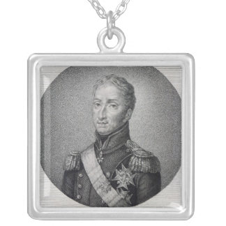 Portrait of Charles of France Silver Plated Necklace