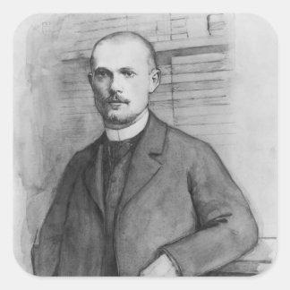 Portrait of Charles Peguy Square Sticker