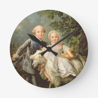 Portrait of Charles Philippe of France (1757-1836) Round Clock
