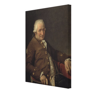 Portrait of Charles-Pierre Pecoul, 1784 (oil on ca Canvas Print