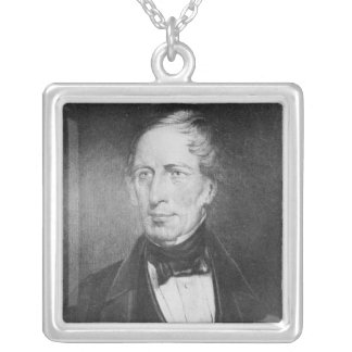 Portrait of Charles Sturt  at the age of 54 Silver Plated Necklace