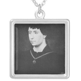 Portrait of Charles the Bold Silver Plated Necklace