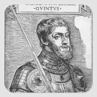 Portrait of Charles V , Holy Roman Emperor Square Sticker