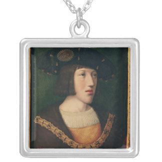 Portrait of Charles V Silver Plated Necklace