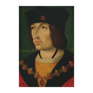 Portrait of Charles VIII  King of France Canvas Print