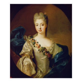 Portrait of Charlotte Aglae of Orleans, 1720s Posters