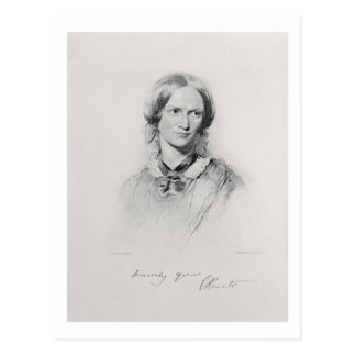 Portrait of Charlotte Bronte, engraved by Walker a Postcard
