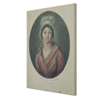 Portrait of Charlotte Corday  after 1793 Stretched Canvas Prints