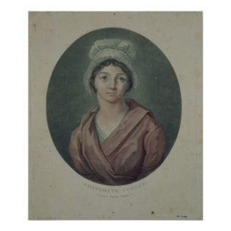 Portrait of Charlotte Corday  after 1793 Poster