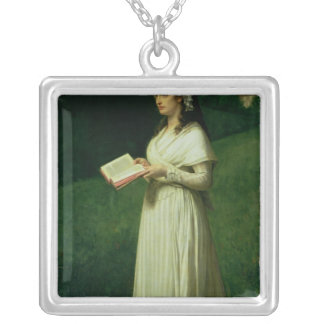 Portrait of Charlotte Corday Silver Plated Necklace