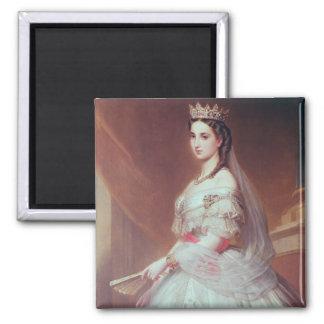 Portrait of Charlotte of Saxe-Cobourg-Gotha Square Magnet