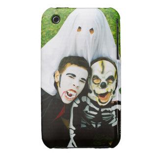Portrait of children (6-10) dressed in Halloween iPhone 3 Cover