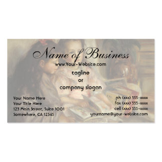 Portrait of Children by Pierre Auguste Renoir Pack Of Standard Business Cards