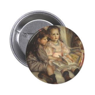 Portrait of Children, Renoir Vintage Impressionism Pin