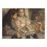 Portrait of Children, Renoir Vintage Impressionism Greeting Card