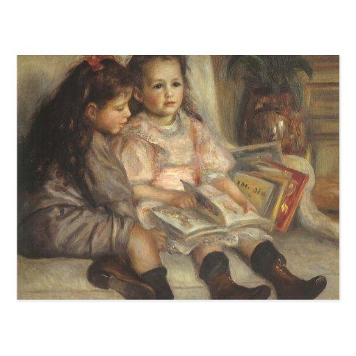 Portrait of Children, Renoir Vintage Impressionism Postcard
