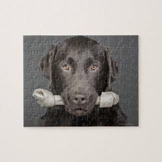 Portrait of chocolate labrador jigsaw puzzle