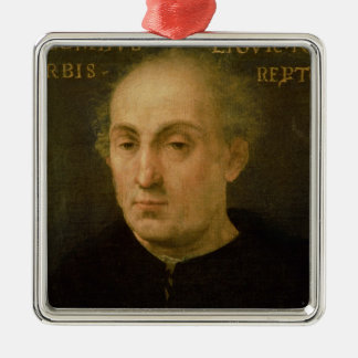 Portrait of Christopher Columbus Christmas Ornament