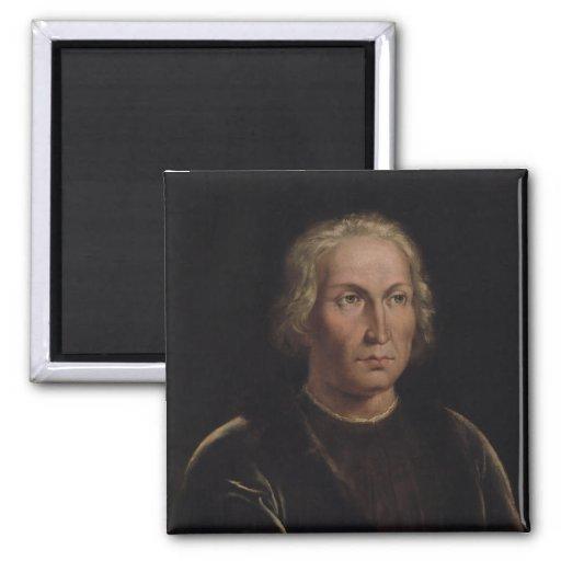 Portrait of Christopher Columbus Fridge Magnets