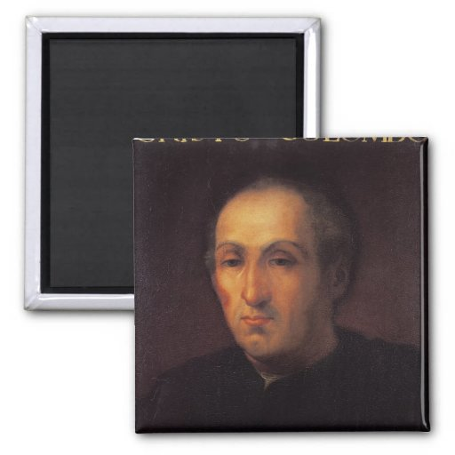 Portrait of Christopher Columbus Magnets