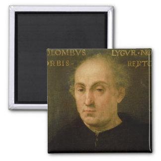 Portrait of Christopher Columbus Fridge Magnet