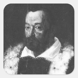 Portrait of Christopher Columbus Square Sticker