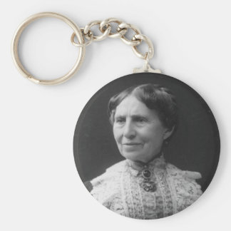 Portrait of Clara Barton Later in Life Basic Round Button Key Ring