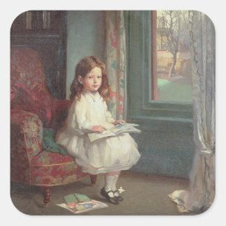Portrait of Clara Hughes, 1902 (oil on canvas) Square Sticker