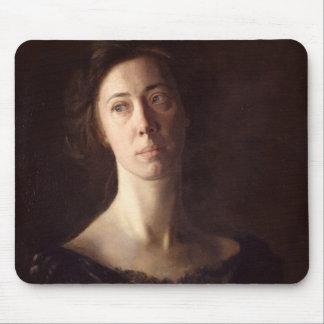 Portrait of Clara J. Mather Mouse Mat