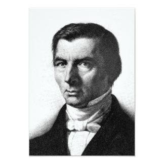 Portrait of Classical Liberal Frederic Bastiat 13 Cm X 18 Cm Invitation Card